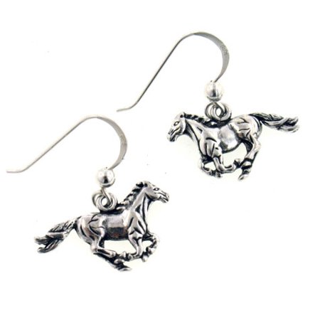 Small Running Horse Sterling Silver Dangling Hook