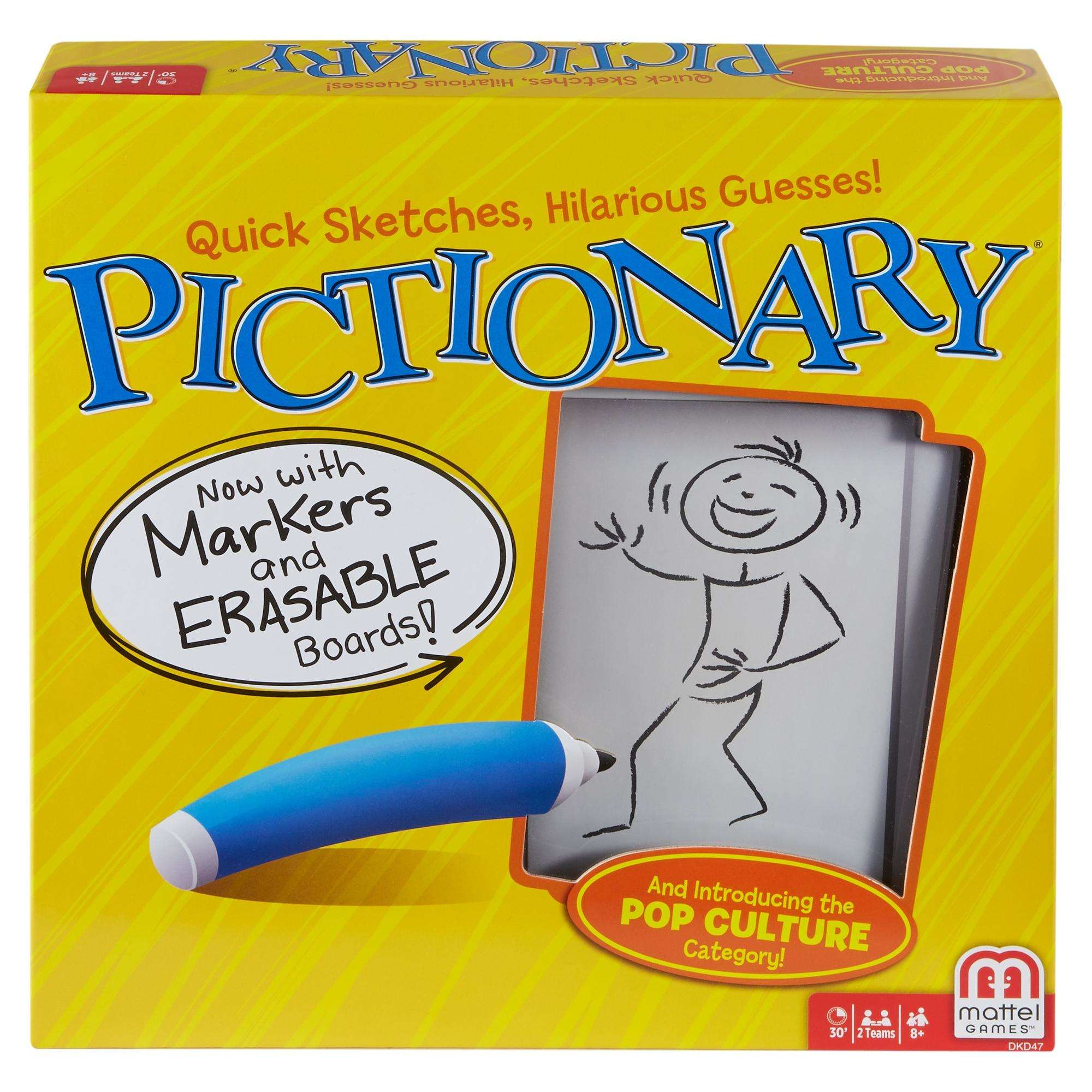 Pictionary Game, Quick-Draw Guessing Game with Adult and Junior Clues