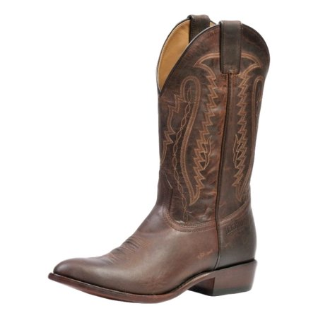 c200b4e95bd Rugged Country Western Boots Mens Cowboy Stockman Mad Cat Brown 2102