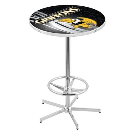 Holland Bar Stool L216C4236MOWSt-D2 42 in. Missouri Western State Griffons Pub Table with 36 in. Top, Chrome - image 1 de 1