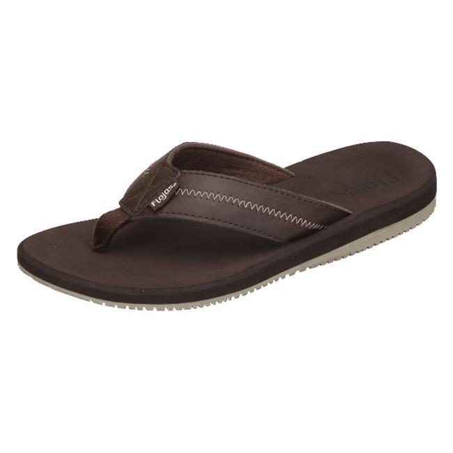 Flojos Mens Logan Sandal, Brown Size 10 by Flojos