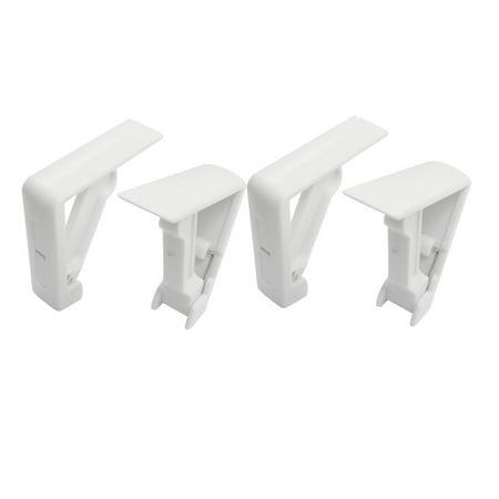 Household White Plastic Spring Loaded Table Cover