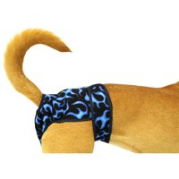 Seasonals Washable Belly Band/Diaper, Fits Petite Dogs, Blue Flames