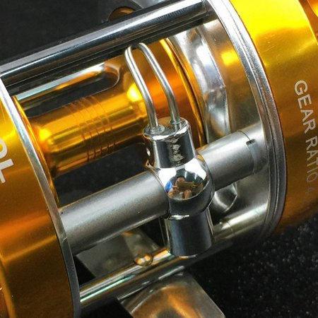 Baitcaster Reel with Oversized Handle Golden Right Hand - image 2 de 8