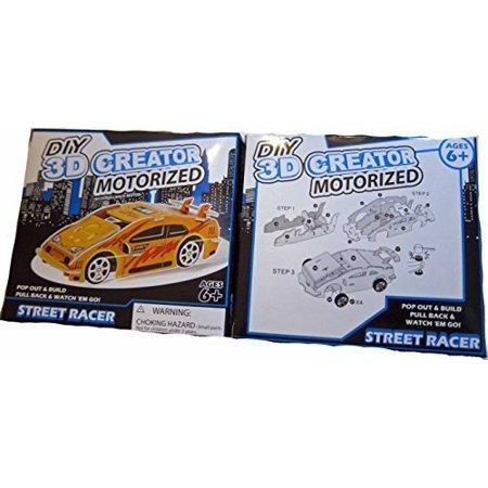 DIY 3D Creator Motorized Street Racer - Yellow