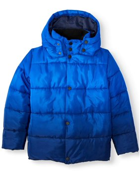 Climate Concepts Boys Ombre Puffer Coat, Sizes 8-18