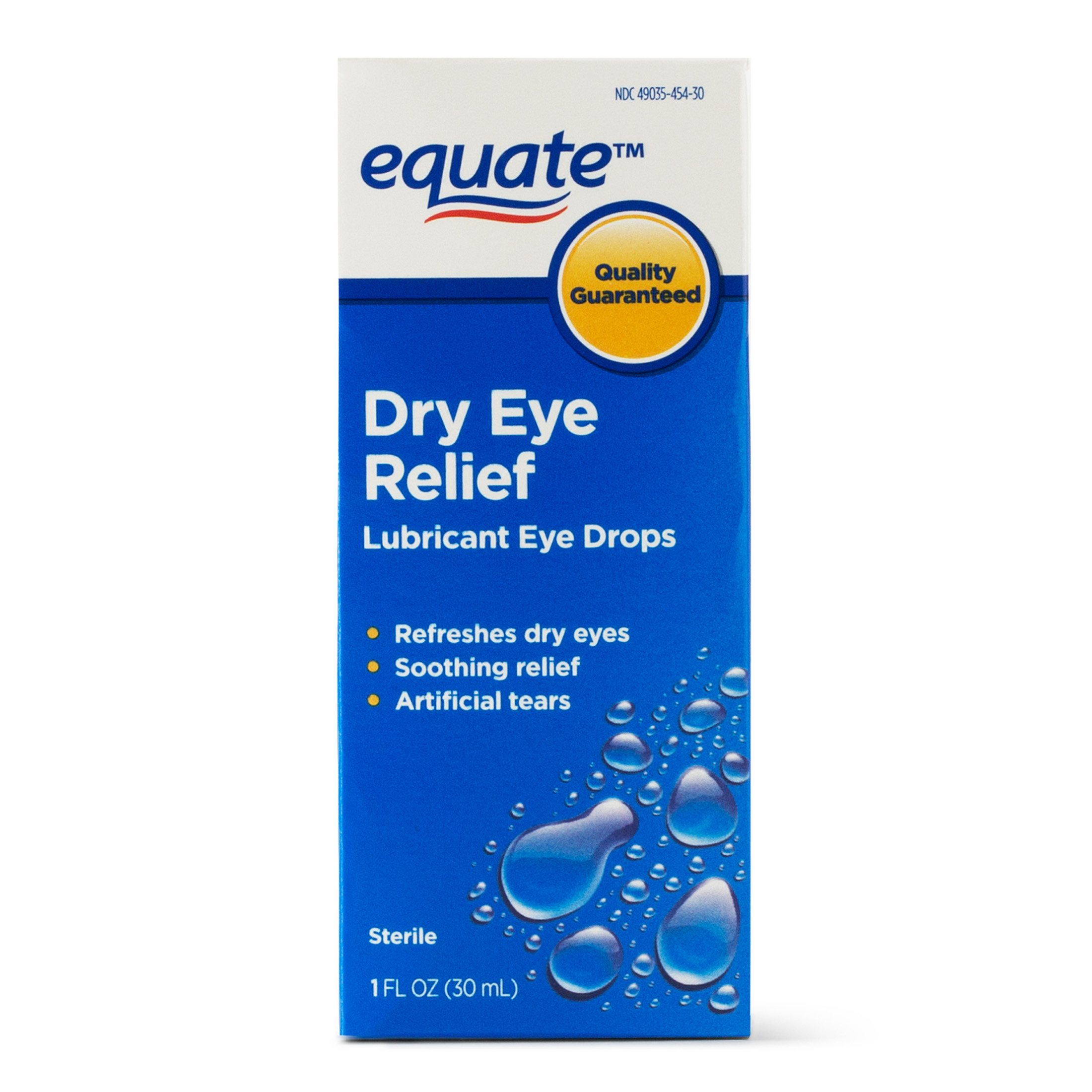 Equate Dry Eye Relief Lubricant Eye Drops Liquid, 1 Oz