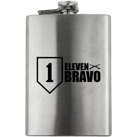 Army 1st Infantry Division 11 Bravo Veteran 8oz. Flask