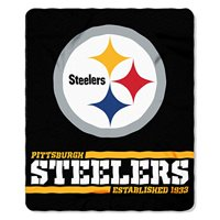 Pittsburgh Steelers The Northwest Company 50'' x 60'' Split Wide Fleece Throw Blanket - No Size