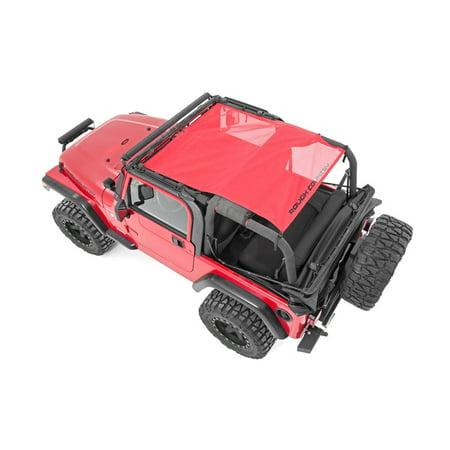 Rough Country 85107 - Red Mesh Bikini Top Plus (fits) 92-06 Jeep Wrangler TJ (Jeep Wrangler Bikini)
