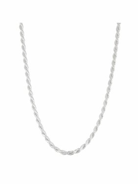 """Sterling Silver Rope Chain Necklace, 22"""""""