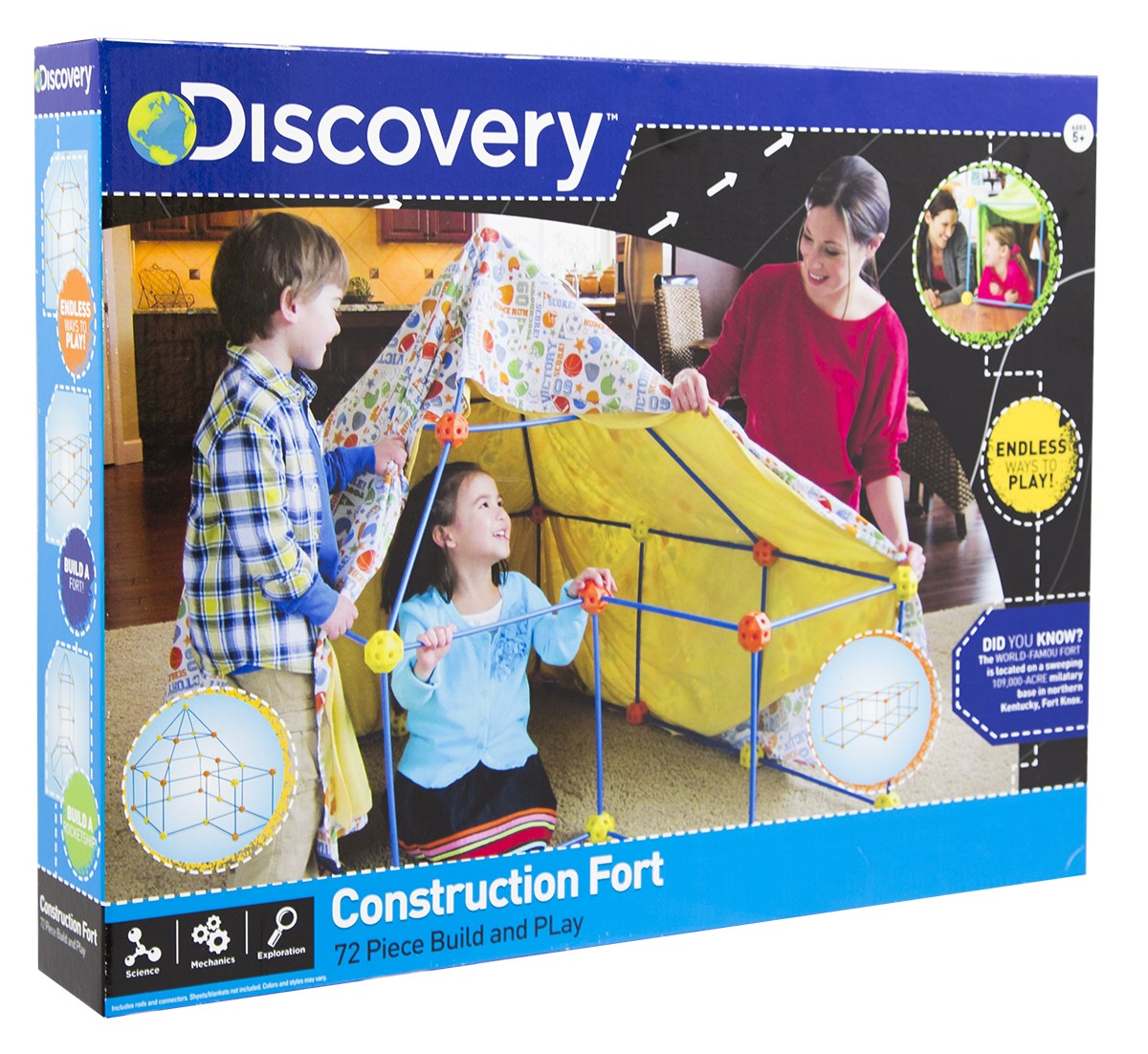 Discovery Kids Construction Fort Build and Play Set