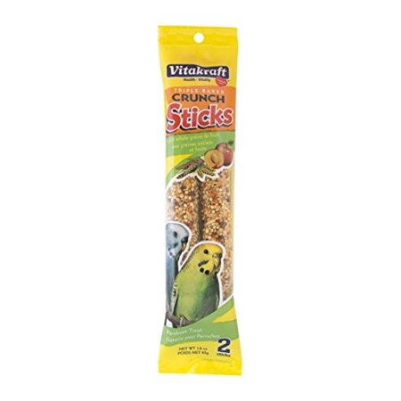 Vitakraft Kracker Sticks Fruit Parakeet Treat, 2 Ct