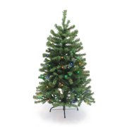 The Perfect Holiday - 4 ft Pre-Lit Christmas Tree - Multicolor