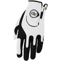 GA Tech Yellow Jackets Left Hand Golf Glove & Ball Marker Set - White - OSFM