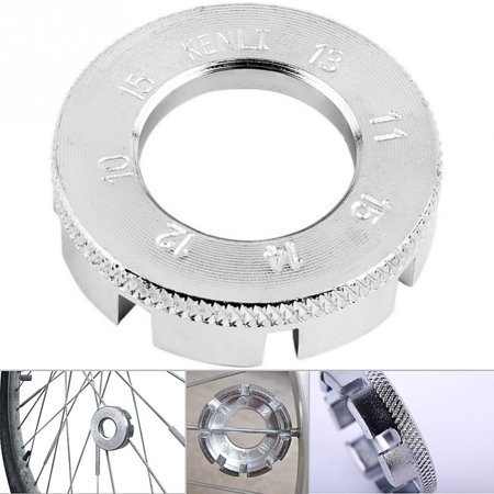 Bicycle Repair Tools Mini Round Forged Steel Spoke Wrench Wheel Rim Spanner Silver Color:Silver
