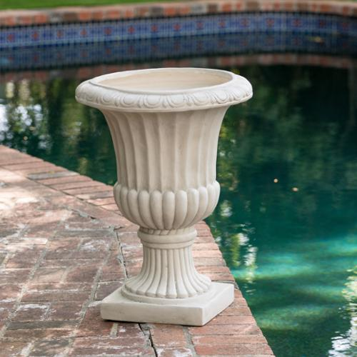 Christopher Knight Home Antique White 26-inch Italian Urn Planter by