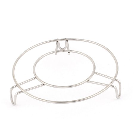 Stainless Steel Kitchen Cookware Wire Steaming Rack Stand 12cm Dia Grill Pan Grid