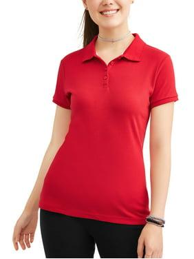 Wonder Nation Juniors' Plus School Uniform Short Sleeve Interlock Polo
