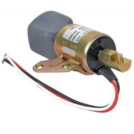 New Shut Down Solenoid For Kubota D722, D902 & Z482 Engine Applications, Replaces SyncroStart SA4899-12 1756ES-12SULB1S5