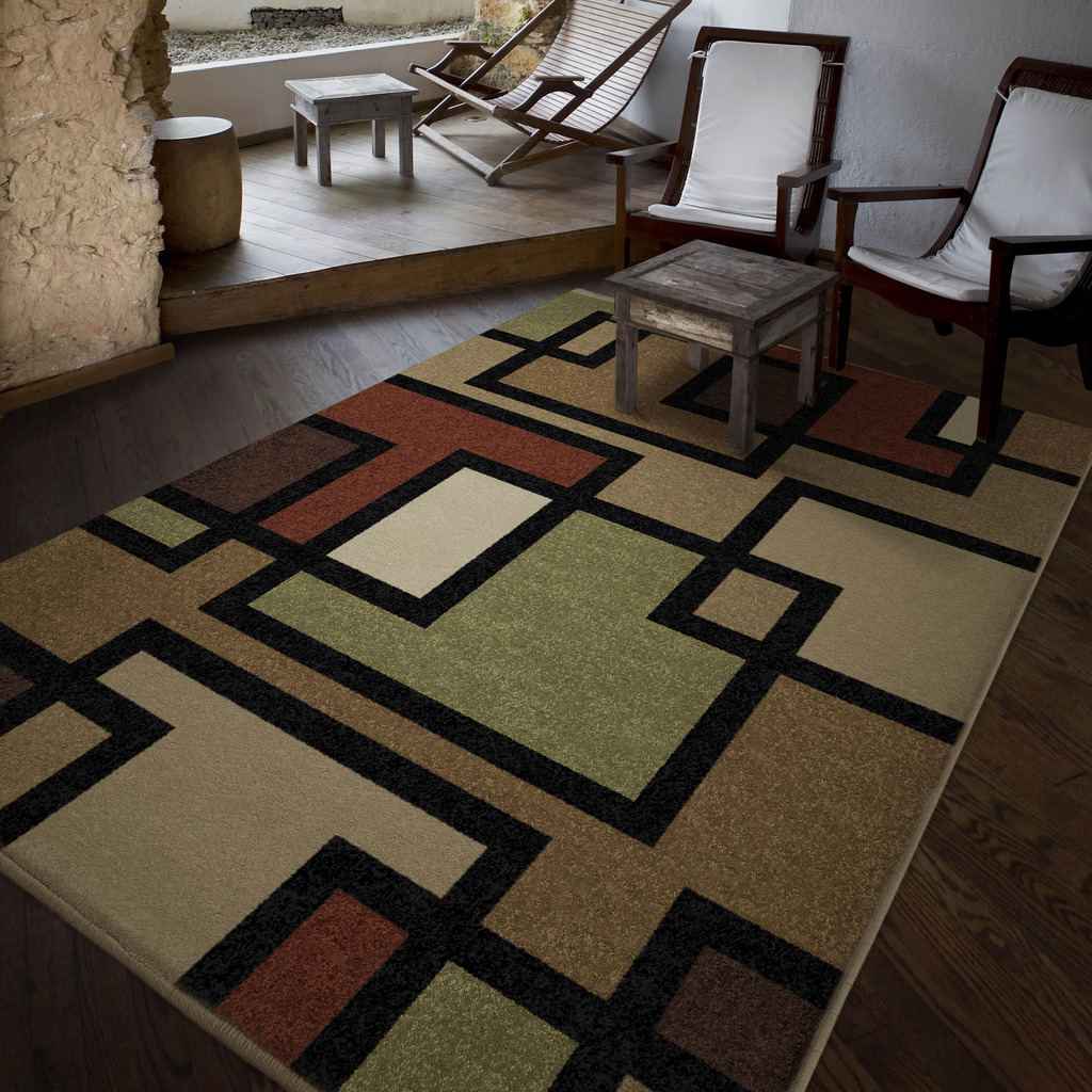 Beautiful Orian Rugs Blended Blocks Area Rug, Multi Color   Walmart.com Good Looking