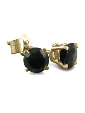 76c2b98c2 Product Image 1/4ct Black Diamond Stud Earrings Crafted In 14k Yellow Gold