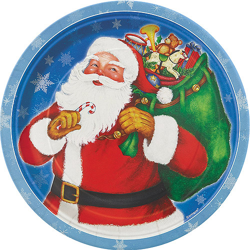 "7"" Night Before Christmas Dessert Plates, 8-Count"