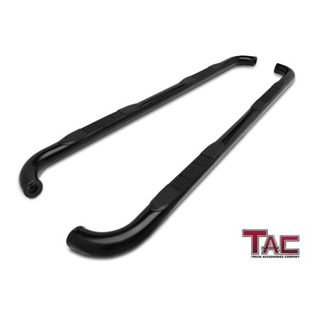 "TAC Side Steps for 2002-2008 Dodge Ram 1500 Quad Cab / 2003-2009 Dodge Ram 2500 / 3500 Quad Cab Truck Pickup 3"" Black Side Bars Nerf Bars Running Boards"