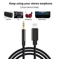 Aux Cord for iPhone XR, 3.5mm Aux Cable for iPhone 7/X/8/8 Plus/XS Max/X, aux cable for Car Stereo or Speaker or Headphone Adapter, S10096