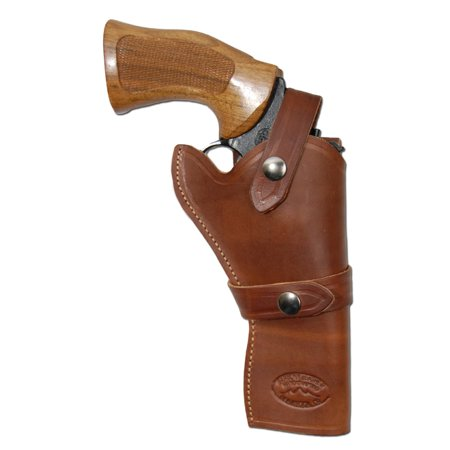 Barsony Right Hand Draw Brown Leather Western Holster Size 6 Astra Beretta Colt EAA Rossi Ruger S&W for 4