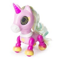 Zoomer - Zupps Tiny Unicorns, Charm, Interactive Unicorn with Light-up Horn, for Ages 4 and Up