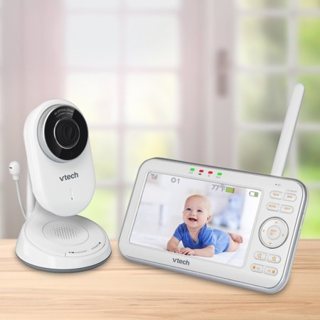 VTech VM5271 Expandable Digital Video Baby Monitor with Motorized Lens and 6x Optical Zoom, White