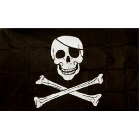 Jolly Roger Pirate Pirate Flag Ship Banner Huge Pennant Sign 4x6 Foot (Jolly Roger Flag 4x6)