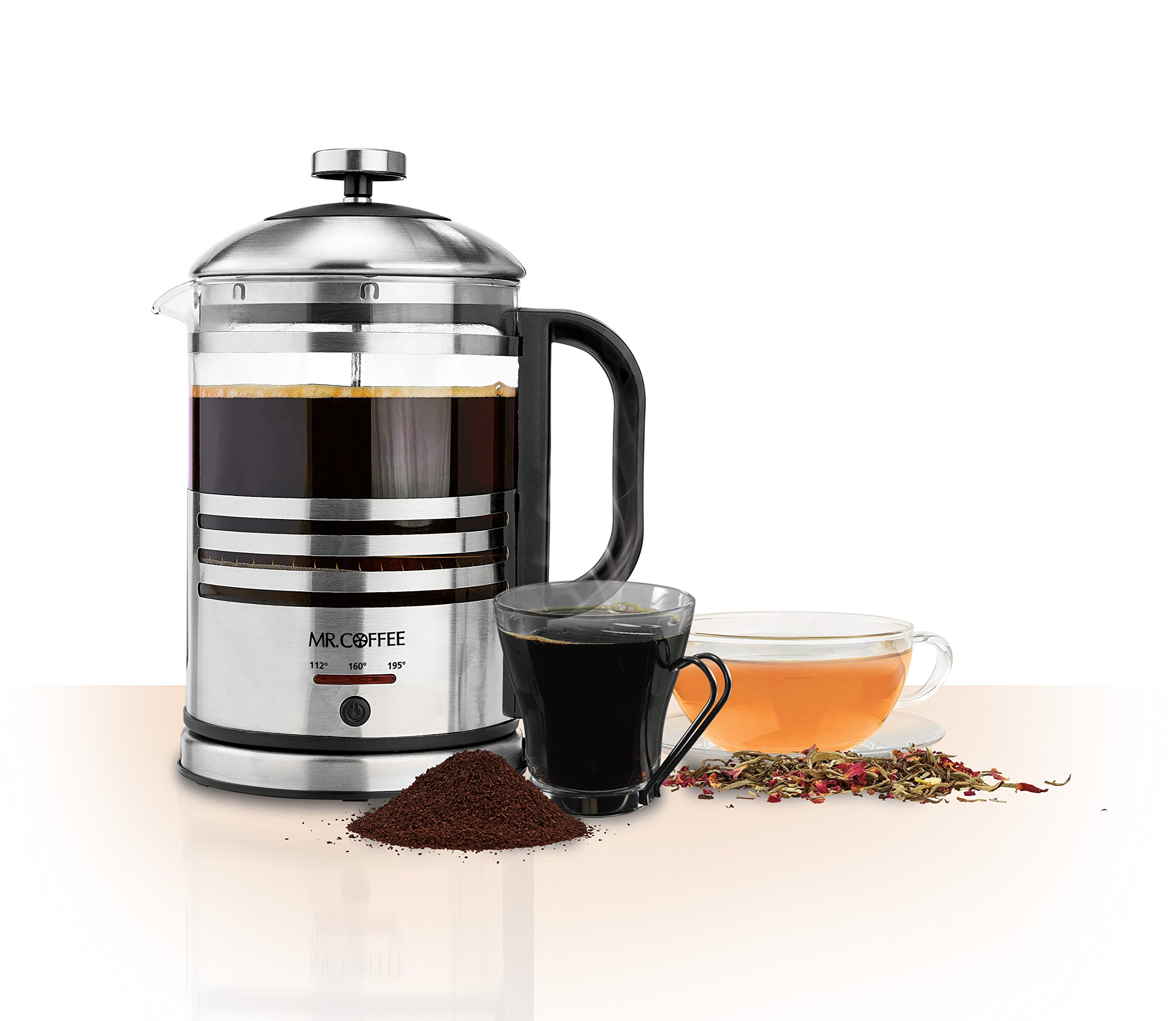 French Press Coffee Maker With Timer : Mr. Coffee Jwx Series 12-cup Programmable Coffeemaker, Red Stainless Steel - Programmable - 12 ...