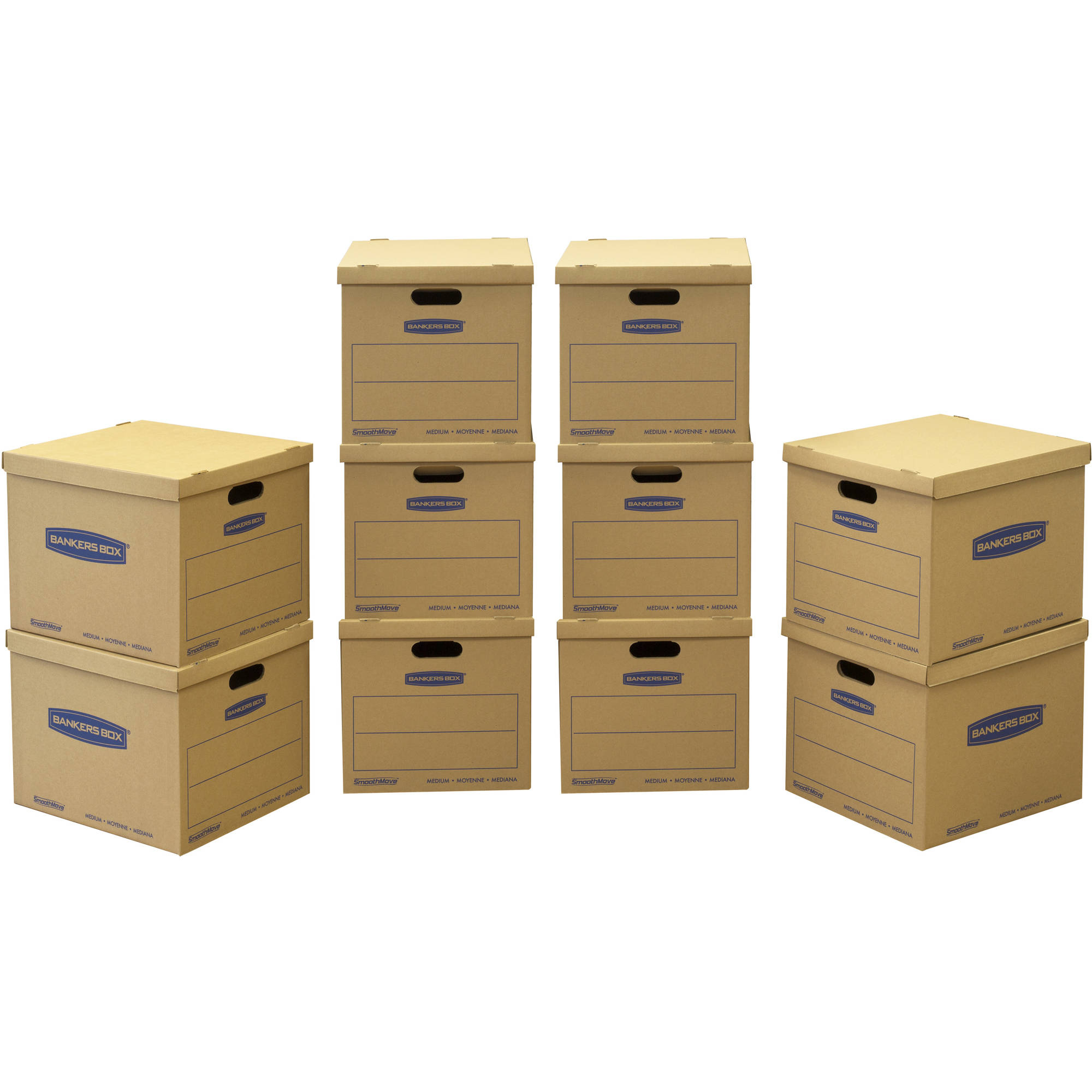 Bankers Box SmoothMove Classic Moving Box Medium 10-Pack