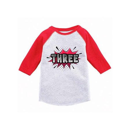 Awkward Styles Third Birthday Raglan Shirt For Toddlers Baseball Tee 3 Years Old Kids Toddler Superhero Shirts 3rd Boy