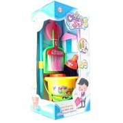 Cleaning Set Toy Broom, Dust Pan, Mop And Bucket by GIRL FUN TOYS