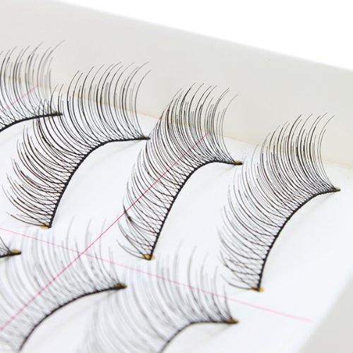 AGPtEK Handmade Natural Fashion Long False Eyelashes For Makeup (10 Pairs)
