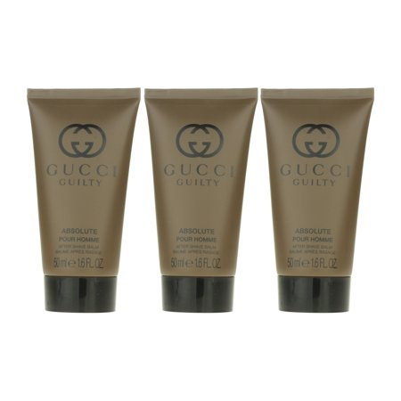 Gucci Guilty Absolute Pour Homme After Shave Balm 1.6oz/50ml  (Pack Of 3)