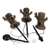 Way to Celebrate 3 ft, Multicolor LED Spooky Tree Lawn Stake Halloween Lights (Set of 3)
