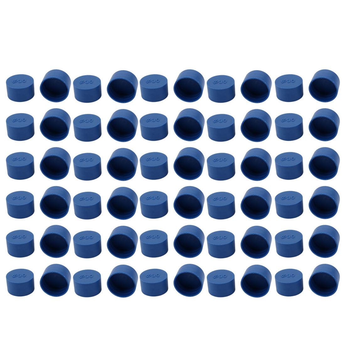 60pcs 30mm Inner Dia PE Plastic End Cap Bolt Thread Protector Tube Cover Blue - image 2 de 2