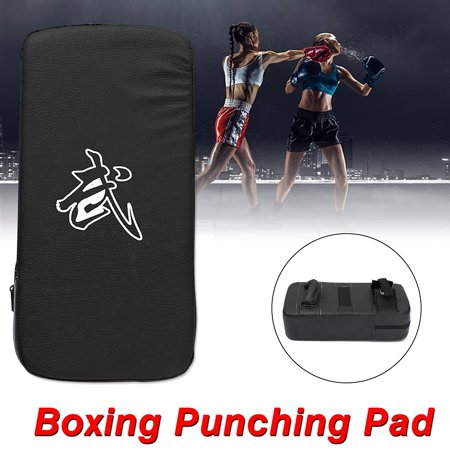 Professional Muay Thai Karate MMA Taekwondo Boxing Kick Punching Bag Pad Foot Target Black