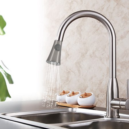 1/2 ABS Plastic Kitchen Sink Faucet Pull Down Steel Replacement Pull Out Spray Shower Head, Sink Spray Heads, Pull Down Spray (Pull Out Spray Replacement)
