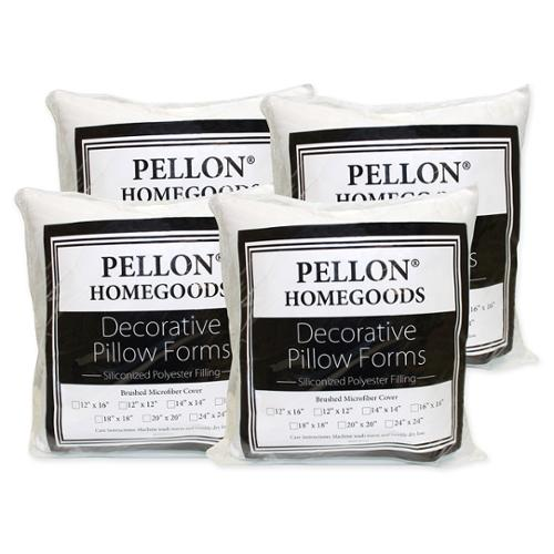 pellon decorative pillow inserts 18inch x 18inch set of 4