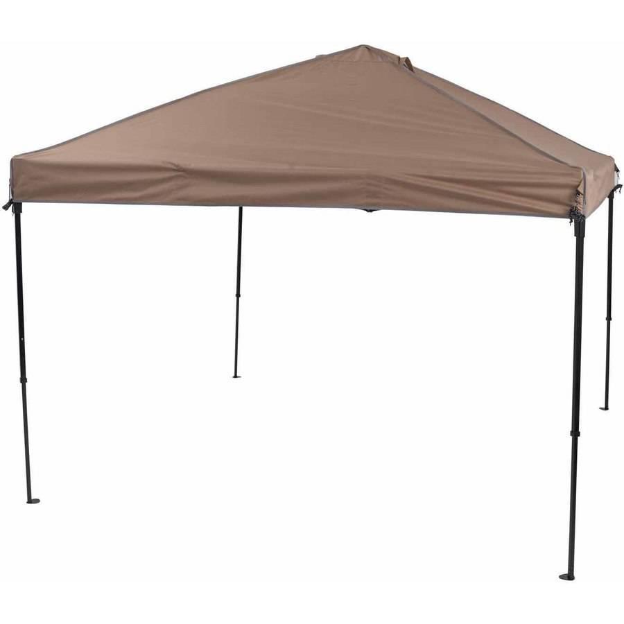 TrueShade Plus 10' x 10' Portable Pop Up Canopy Khaki