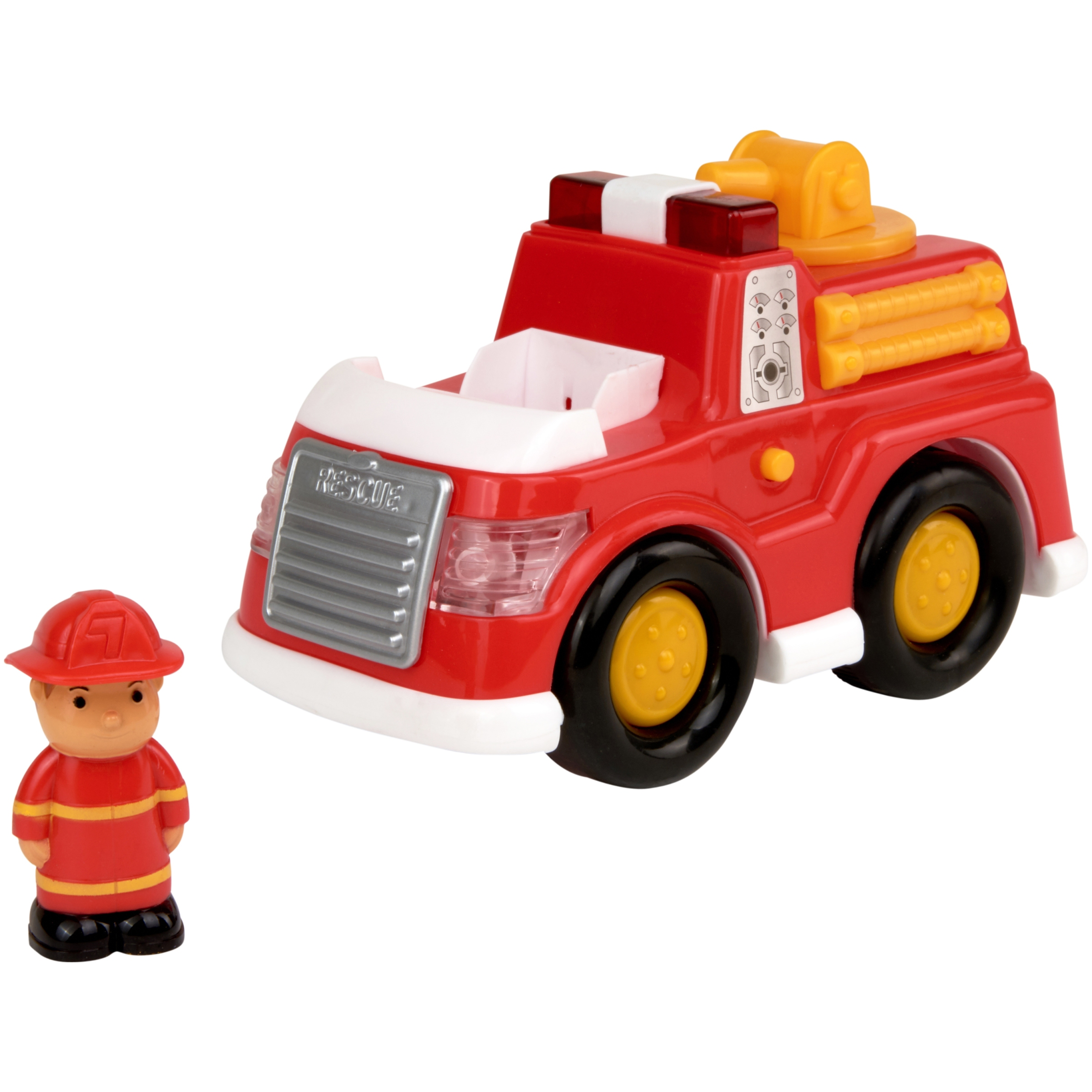 Kid Connection Light & Sound My First Vehicle Toy Fire Truck with Figure
