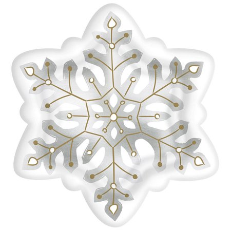 Christmas Snowflakes Extra Large Shaped Paper Plates (8ct) ()