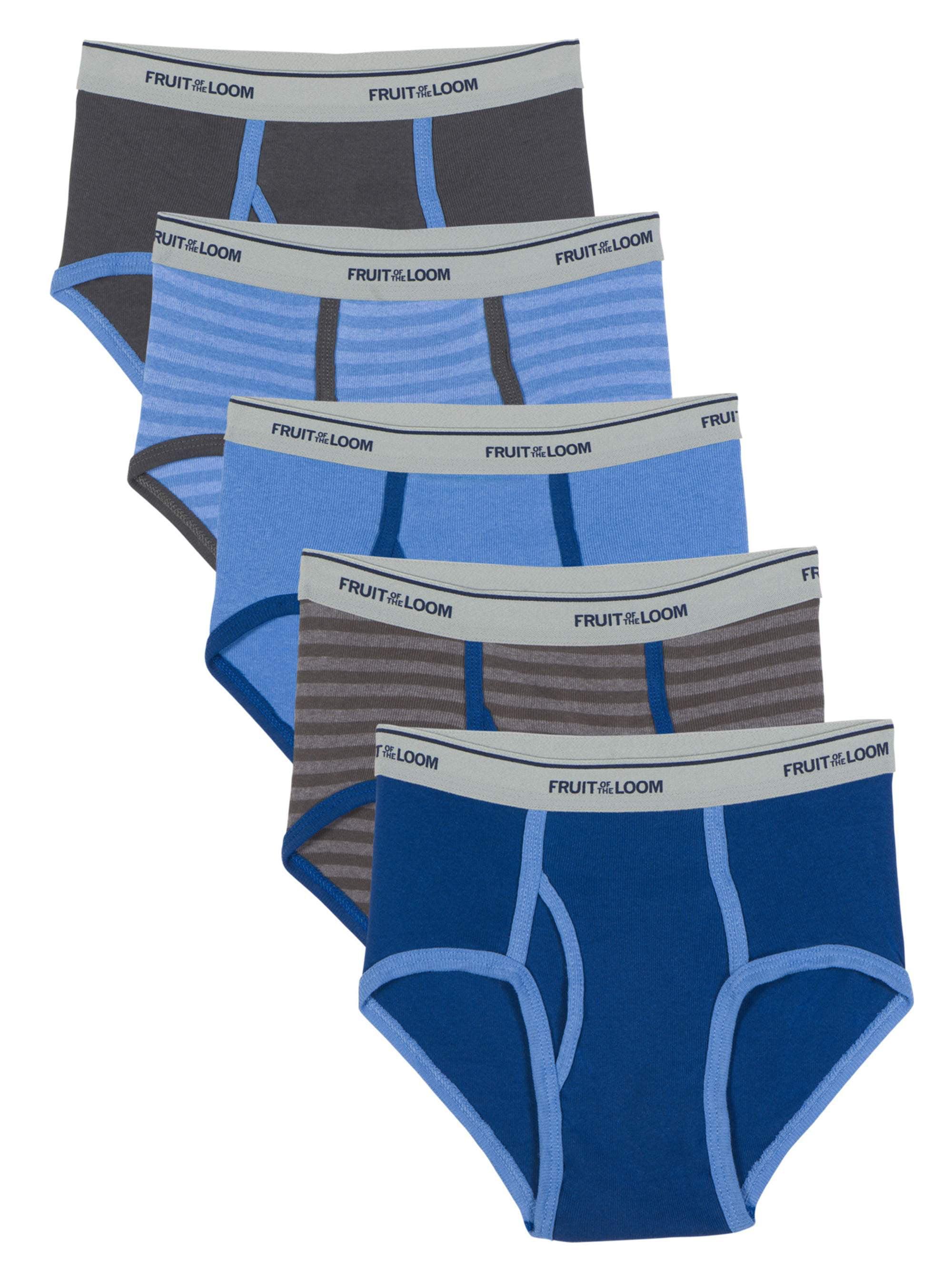 My-way Kids Robot Print Underwear Briefs by Cotton with Five-Packs