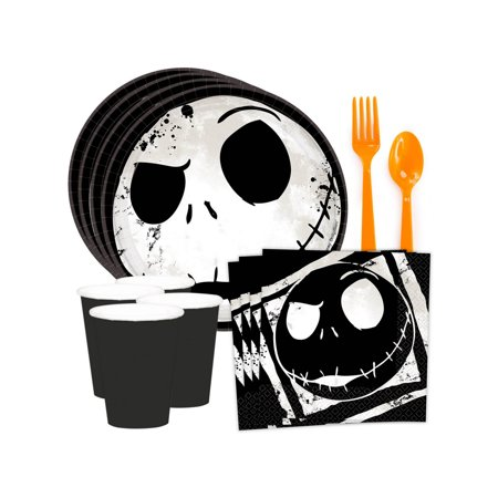 Nightmare Before Christmas Standard Tableware Kit (Serves 8) - Nightmare Before Christmas Birthday Halloween Party Supplies