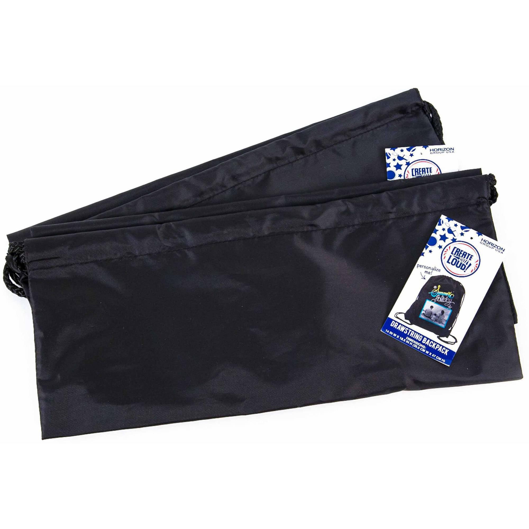 Horizon Group USA Create Out Loud Black Drawstring Bag, 2pk